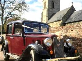 Vintage wedding car hire in Letchworth